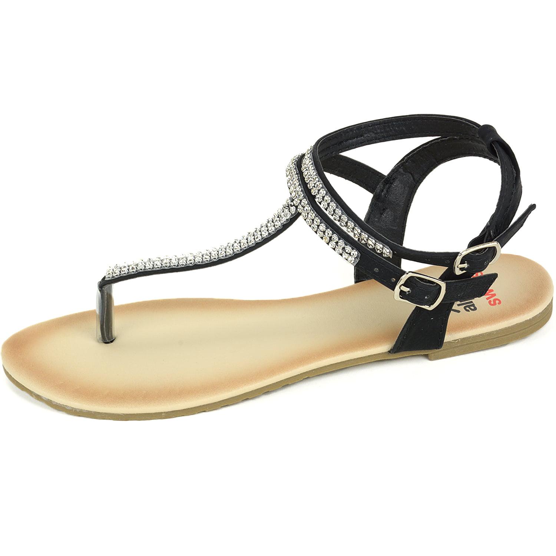 0343b6b01 Alpine Swiss - Alpine Swiss Women s Gladiator Sandals T-Strap Slingback  Roman Rhinestone Flats - Walmart.com
