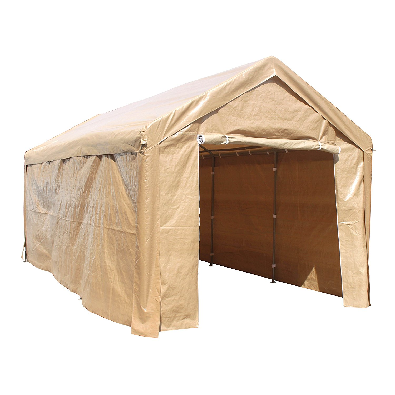 Aleko Heavy Duty Outdoor Canopy Carport Tent - 10 X 20 FT - Beige