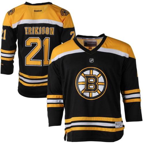 Loui Eriksson Boston Bruins Reebok Youth Replica Player Hockey Jersey Black L XL by Outerstuff
