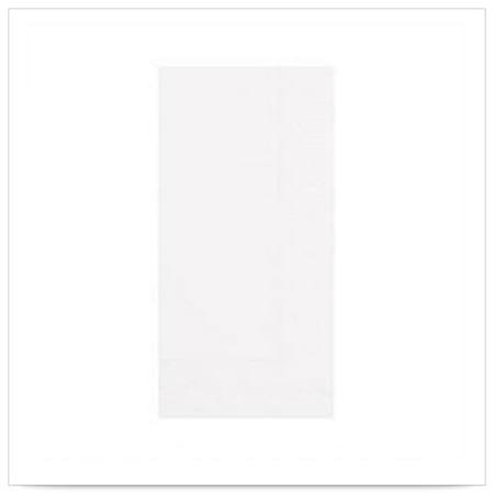17 x 17 Quickset White Dinner Napkin 3 Ply 1/8 Fold Regal Embossed/Case of 2000