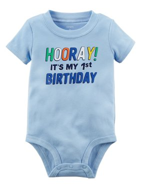 ffc2dd518 Product Image Carter's Baby Boys' 1st Birthday Collectible Bodysuit, ...