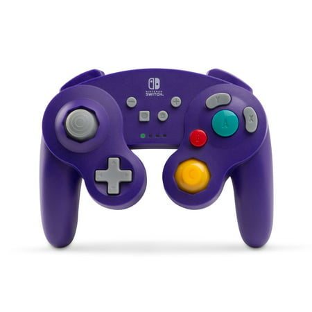 PowerA Wireless Controller for Nintendo Switch - GameCube Style: Purple Nintendo Wavebird Gamecube Controller