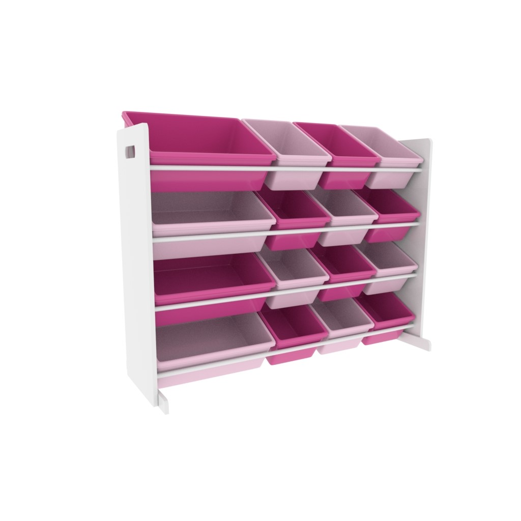 Humble Crew Molly Super Sized Toy Storage Organizer with 16 Storage Bins