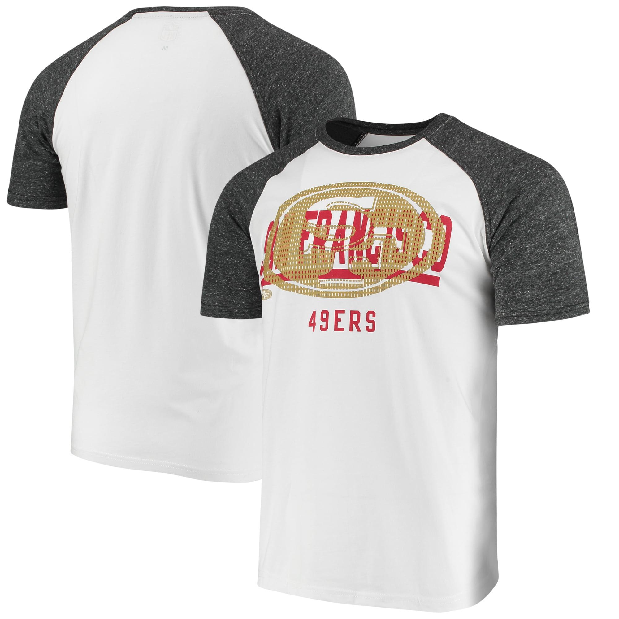 San Francisco 49ers G-III Sports by Carl Banks Heritage Raglan Tri-Blend T-Shirt - White/Heathered Gray