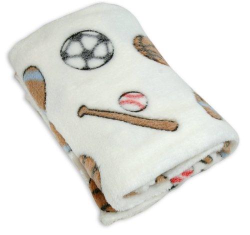 Stephan Baby Sports Fun Ultra Soft Fleece Blanket, Multi Multi-Colored