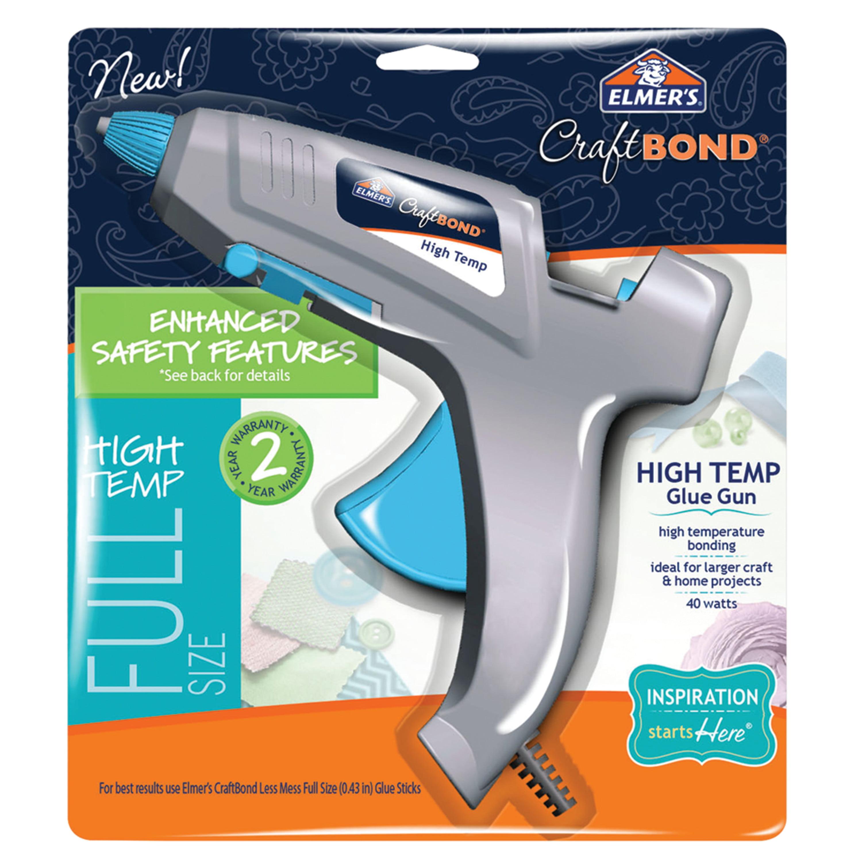 Elmer's Enhanced Safety Hot Glue Gun, High Temp, Full Size, 40W by Elmers Products Inc
