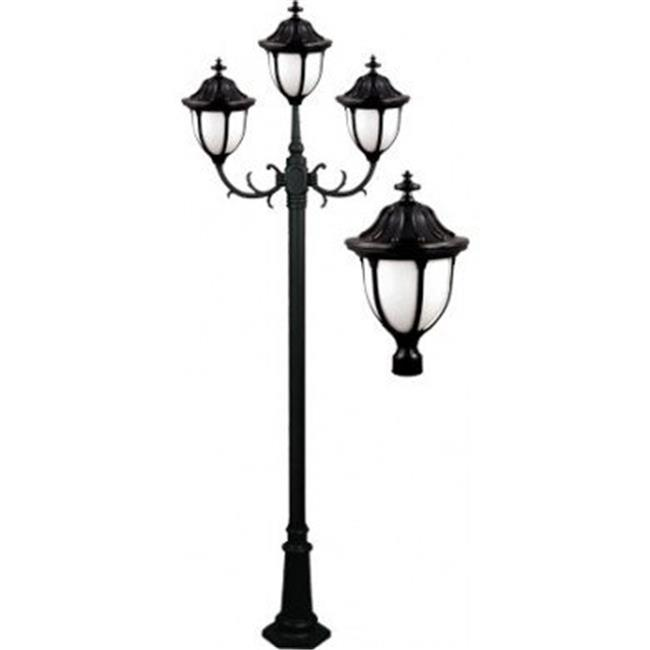 Dabmar Lighting Gm5526 Bz Showcase Post Light Fixture