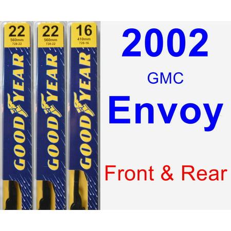 2002 GMC Envoy Wiper Blade Set/Kit (Front & Rear) (3 Blades) - Premium