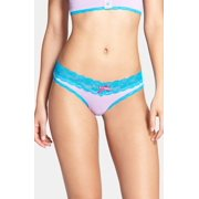 Honeydew NEW Blue Purple Floral Lace Women's Size Small S Thongs Panties