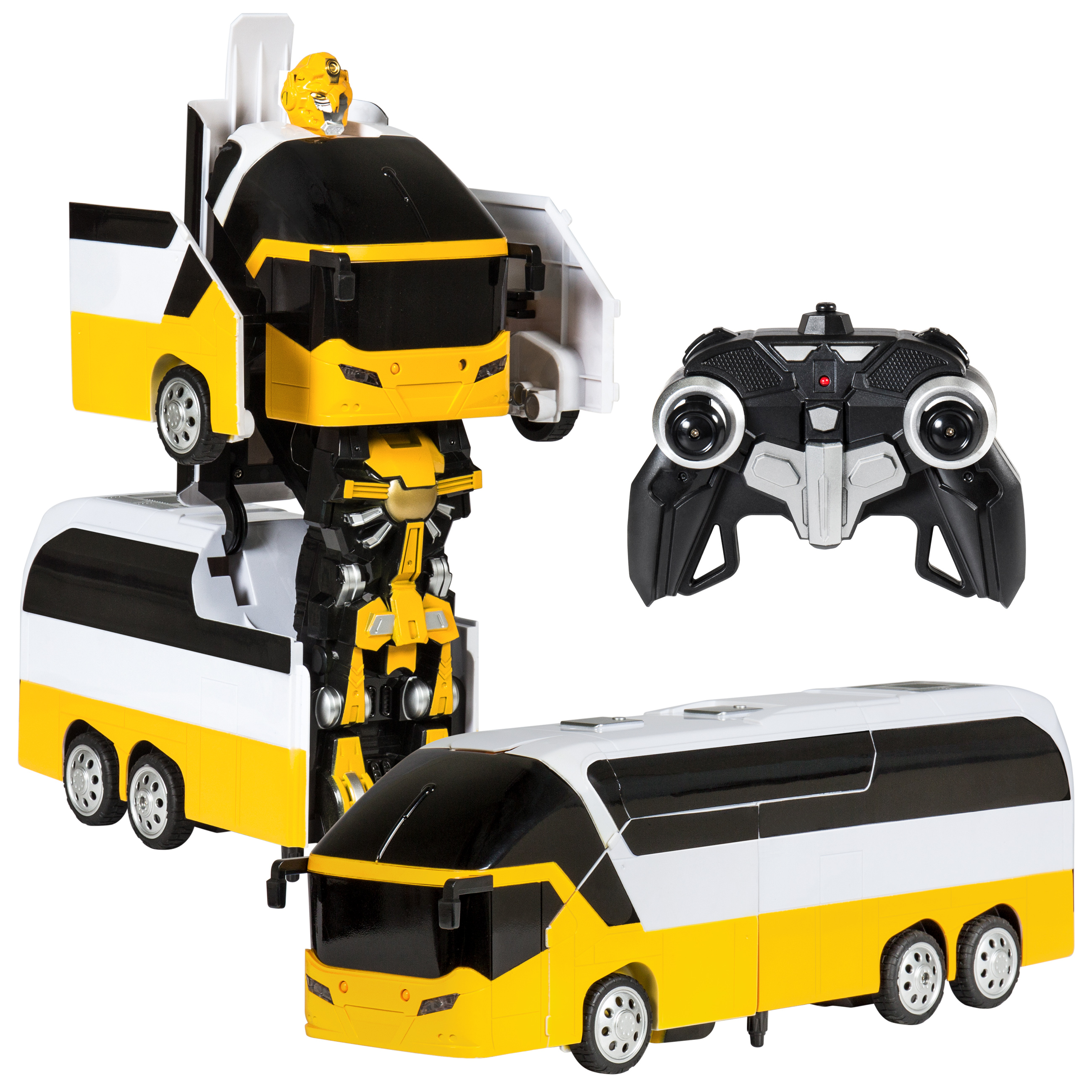 Best Choice Products Toy Remote Control Transformer Bus RC Robot w  USB Charger Yellow by Best Choice Products