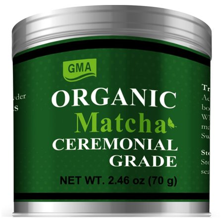 Japanese Matcha Green Tea Powder-USDA Organic-Ceremonial Grade-2.46oz