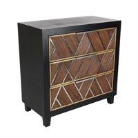 Decmode 32 X 31 Inch Contemporary Wooden Three-Drawer Chest