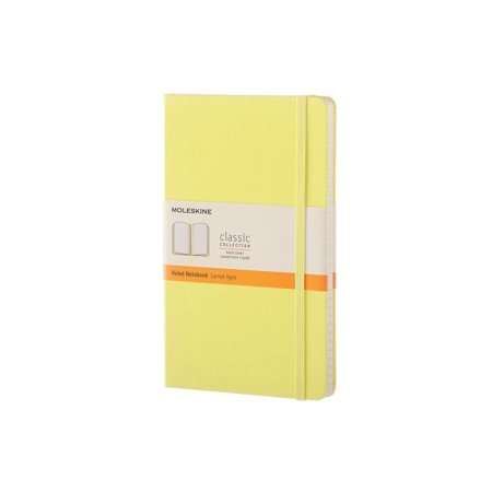 Moleskine Classic Ruled Large Notebook, Hard Cover, Citron Yellow, 5 x 8.25 in.