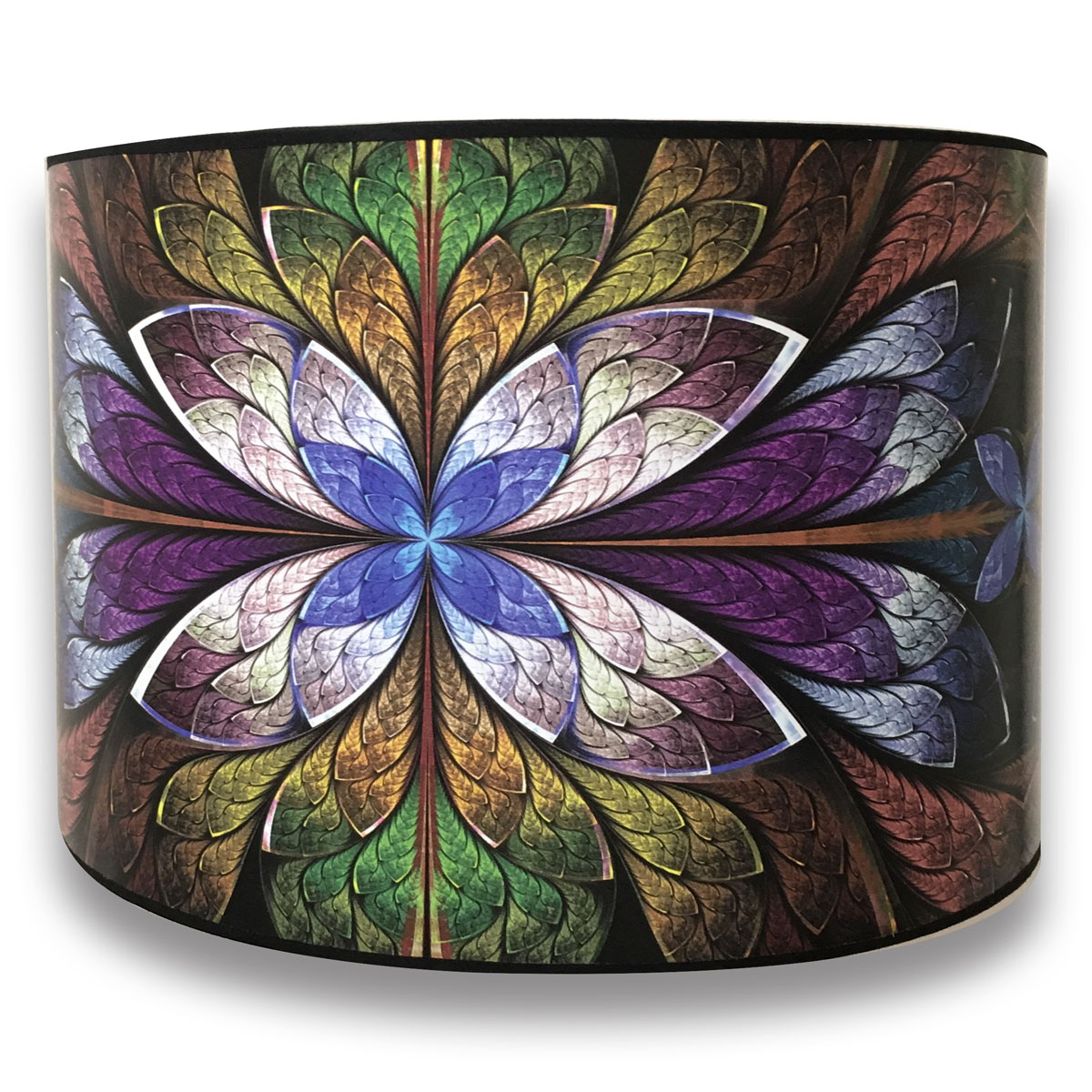 Royal Designs Modern Trendy Decorative Handmade Lamp Shade - Made in USA - Purple Flower Design -10 x 10 x 8