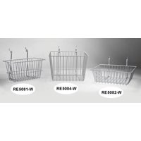 Wire Basket 12inch x 12inch x 8inch, white