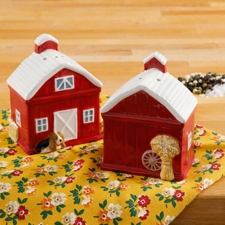 The Pioneer Woman Rustic Barn Salt And Pepper Shaker Set