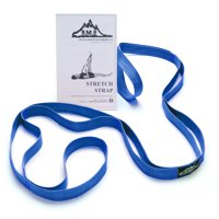 Black Mountain Products Stretch Strap with Instruction Guide, Blue