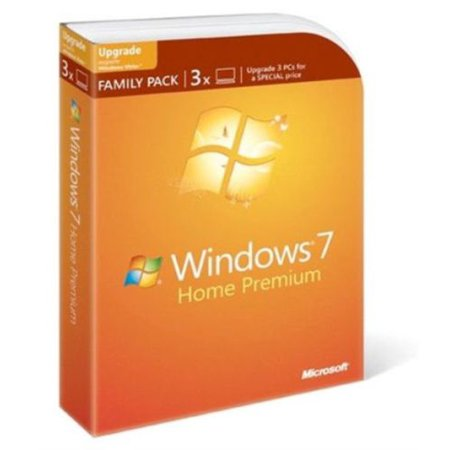 Microsoft Windows 7 Home Premium Upgrade Family Pack (Upgrade Windows 7 Home Basic To Professional)