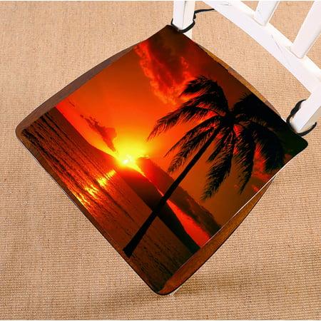 Gckg Hawaii Summer Beach Palm Tree Blue Sea Sunset Chair