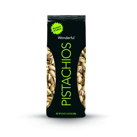 Salted California Pistachios - Wonderful Pistachios, Roasted & Salted, 24 Oz