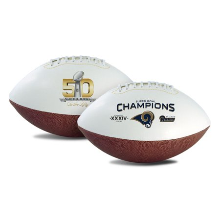 "St. Louis Rams ""On The Fifty"" Champ Full Size Football by"