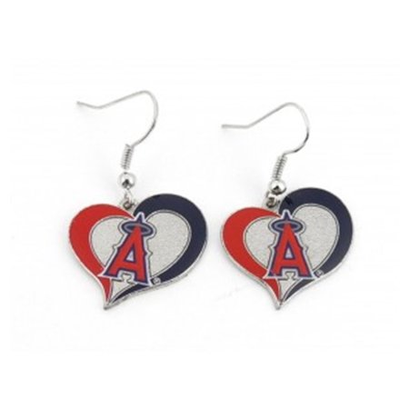 MLB Swirl Heart Earrings Dangle Charm Team Logo PICK YOUR TEAM w/Gift Box