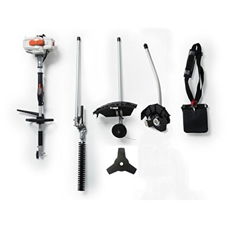 26CC 2 Cycle 4 in 1 Multi Tool with Grass Trimmer Attachment, Hedge Trimmer Attachment , Edger Attachment and Brush Cutter Blade with Bonus