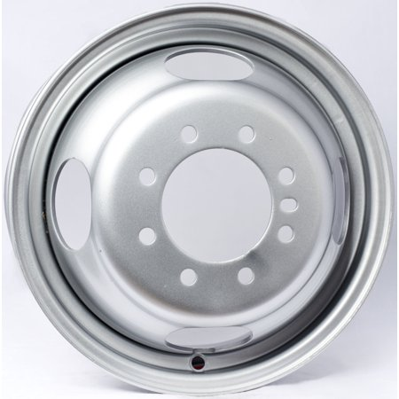 - 2-Pack Trailer Wheel Silver Rims 16 x 6 Dually Style 8 Lug On 6.5 in. Center