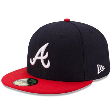 Atlanta Braves New Era Home Authentic Collection On-Field 59FIFTY Fitted Hat - Navy/Red (Atlanta Hawks Fitted Cap)