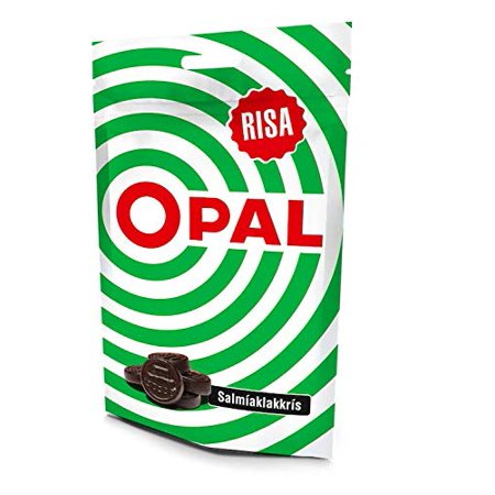 OPAL green Icelandic Salmiak Licorice - Salmiaklakkris Bag of 100g - - Green Apple Licorice