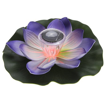 Solar Powered Floating Light (Lixada Solar Powered LED Lotus Flower Light RGB Water Resistant Outdoor Floating Pond Night Light Auto On / Off )