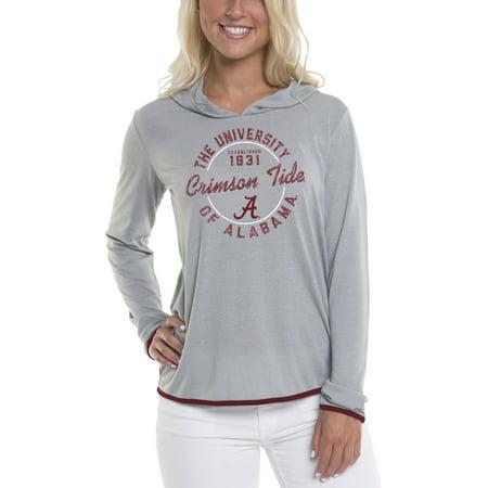 Women's Gray Alabama Crimson Tide Mason Block Pullover Hoodie - Gray Pullover Hoodie