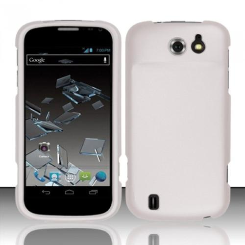 Insten White Rubberized Hard Case Cover For ZTE Flash N9500