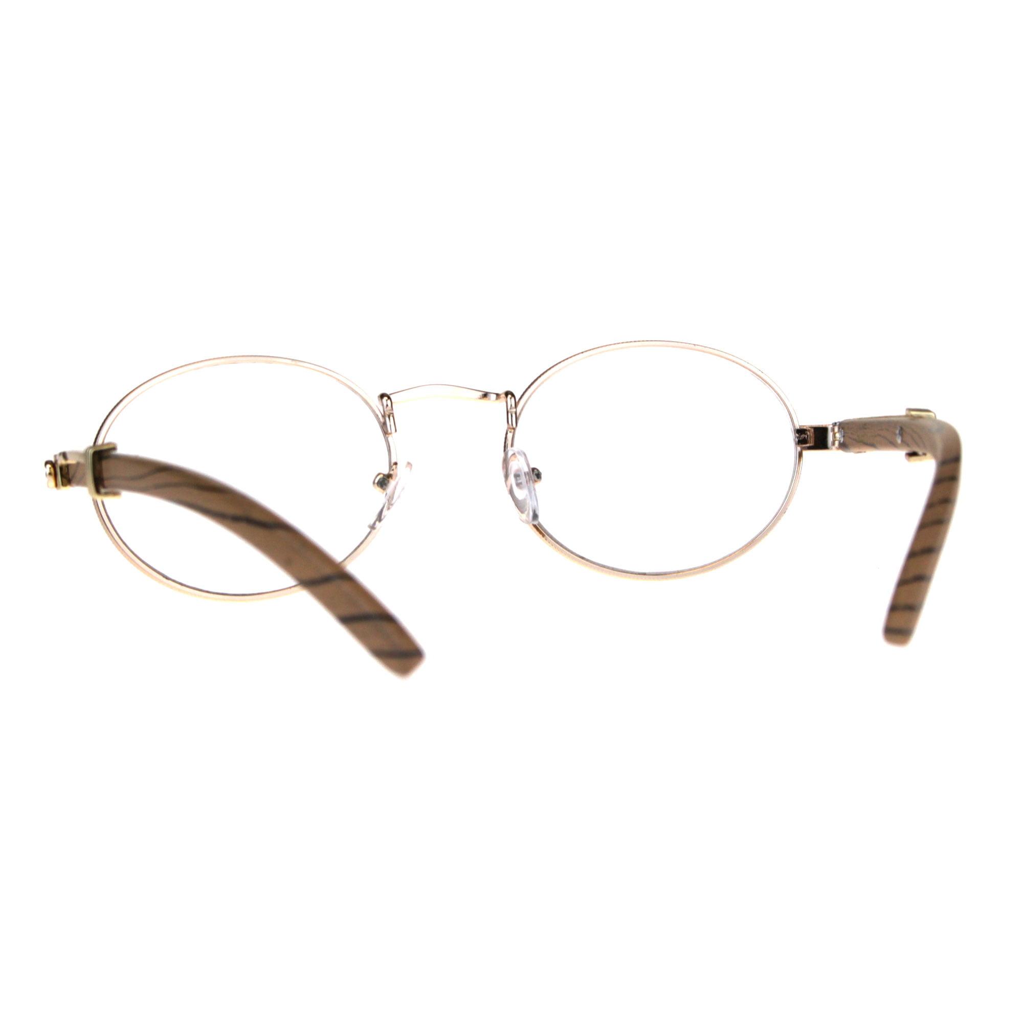 d1dfe0301b3d Mens OG 90s Hip Hop Rapper Luxury Metal Rim Victorian Eyeglasses Light Gold  - Walmart.com
