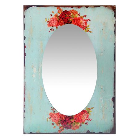 Infinity Instruments Shabby Chic Country Garden Rectangle Wall Mirror -19.75W x 27.5H in.