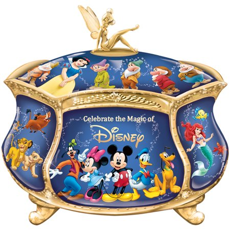 Disney Music Box (Disney Heirloom Music Box w/ 22K Gold Accent Plays When You Wish Upon A)