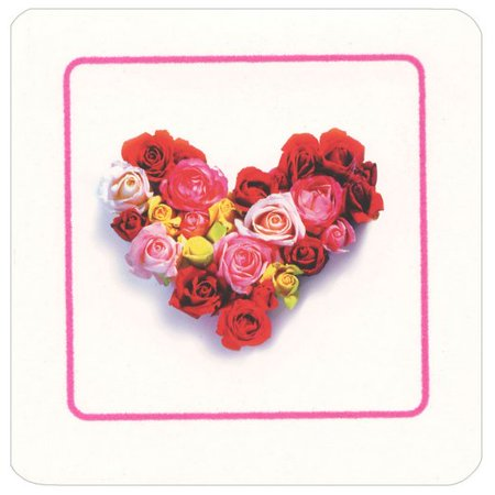 Avanti Press Rose Heart Square Gift Card Holder Greeting Card