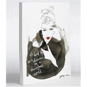 One Bella Casa 72976WD8 8 x 10 in. Woman Canvas Wall Decor by Judit Garcia Talvera - White, Black & Red