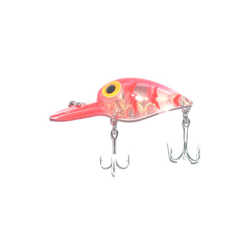 B.S. Fish Lighted Wiggler, Clear/Red