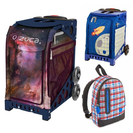 (Zuca Galaxy Bag in Navy Frame (Full-Sized Sport) with Mini Blastoff Bag for Kids)