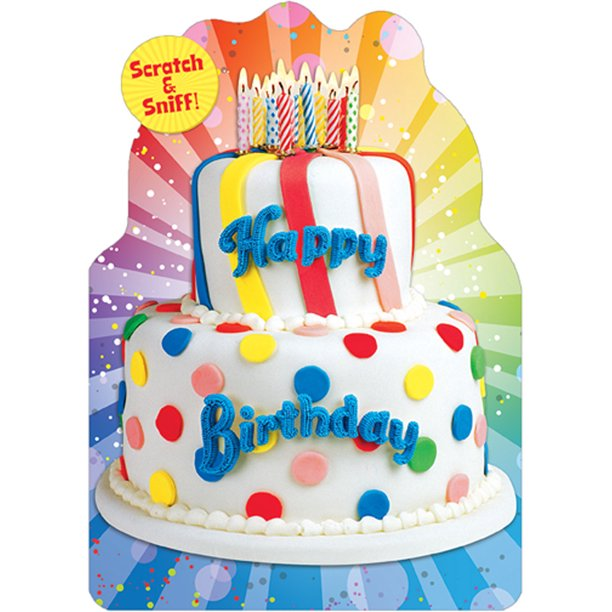 Wondrous Paper House Productions Birthday Cake Scratch And Sniff Birthday Personalised Birthday Cards Bromeletsinfo