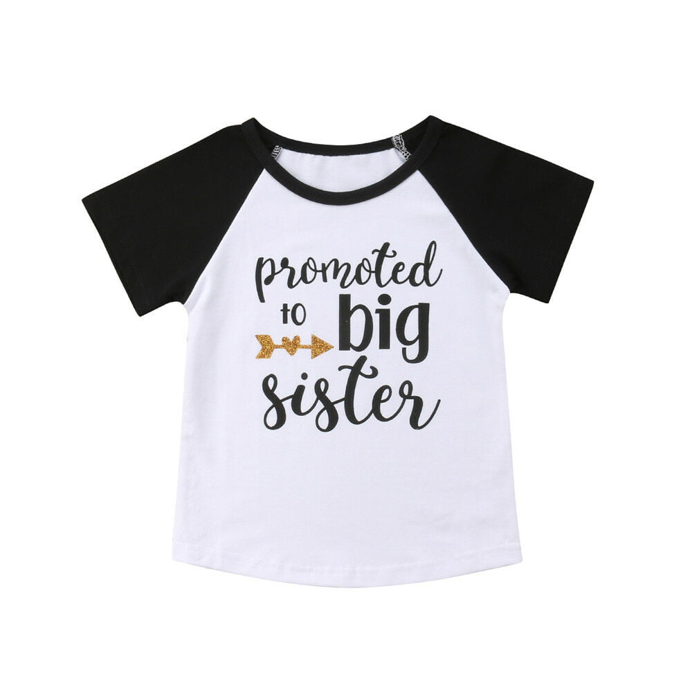 Calsunbaby Newborn Baby Girl Little Sister//Big Sister Print Romper Jumpsuit Top Clothes Set