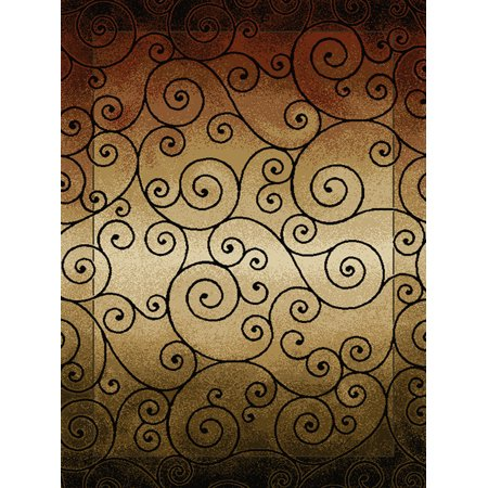 Asian Rug - United Weavers China Garden Area Rugs - 050-34992 Transitional Casual Berber Asian Vines Scrolls Spirals Rug