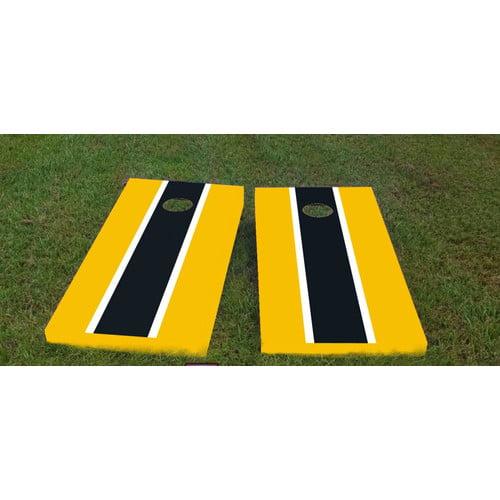 Custom Cornhole Boards Steelers Cornhole Game (Set of 2) by Custom Cornhole Boards
