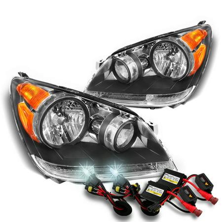 [Black] Fits 2008-2010 HONDA ODYSSEY LH+RH HEADLIGHTS Headlamps + 6000K HID (The Best Hid Kit)