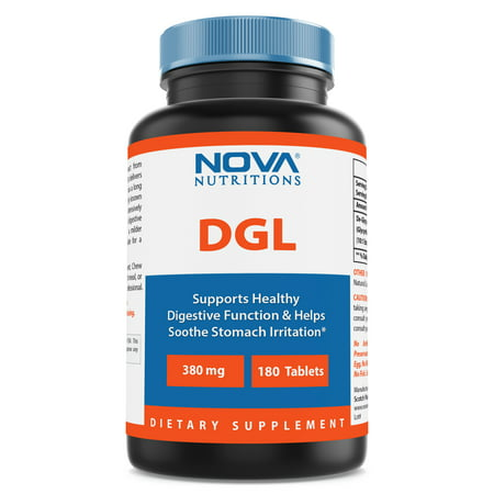 Nova Nutritions DGL Deglycyrrhizinated Licorice Root Extract 380 mg 180 Tablets (Liquorice Root)