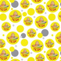 Fiesta Sombrero Mexican Cinco de Mayo Premium Gift Wrap Wrapping Paper Roll Pattern