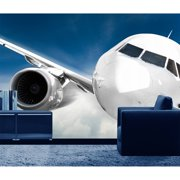 Startonight Mural Wall Art Plane in my Living Room Illuminated Space Wallpaper Photo 5 Stars Gift Large 10 x 28,82 ?? x 50,4 ?? Total 8?4?x 12'