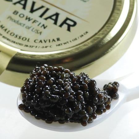 Red Caviar - American Black Caviar Bowfin - 5 Oz (Crystal Glass Jar)