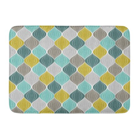 SIDONKU Yellow Modern Abstract Pattern Geometric Vintage Color Green Mustard Antique Doormat Floor Rug Bath Mat 23.6x15.7 inch